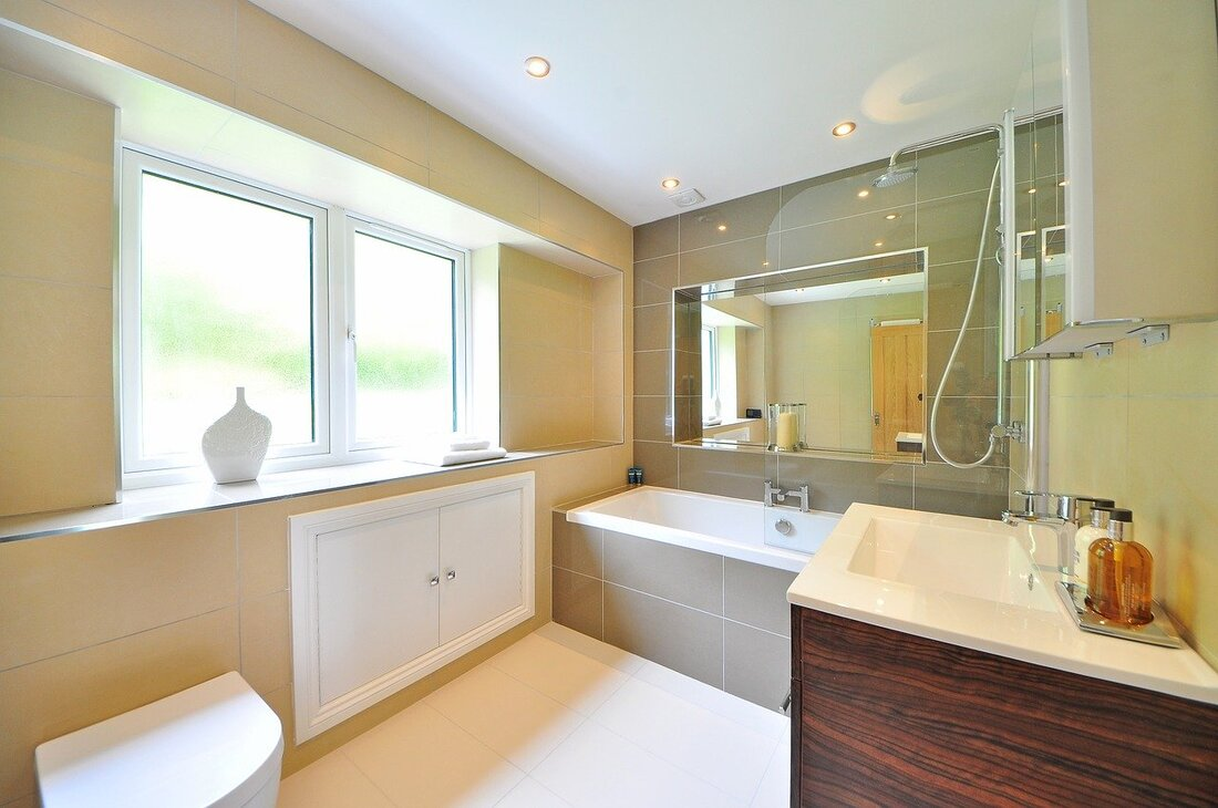 bathroom fitted by professional bathroom fitter