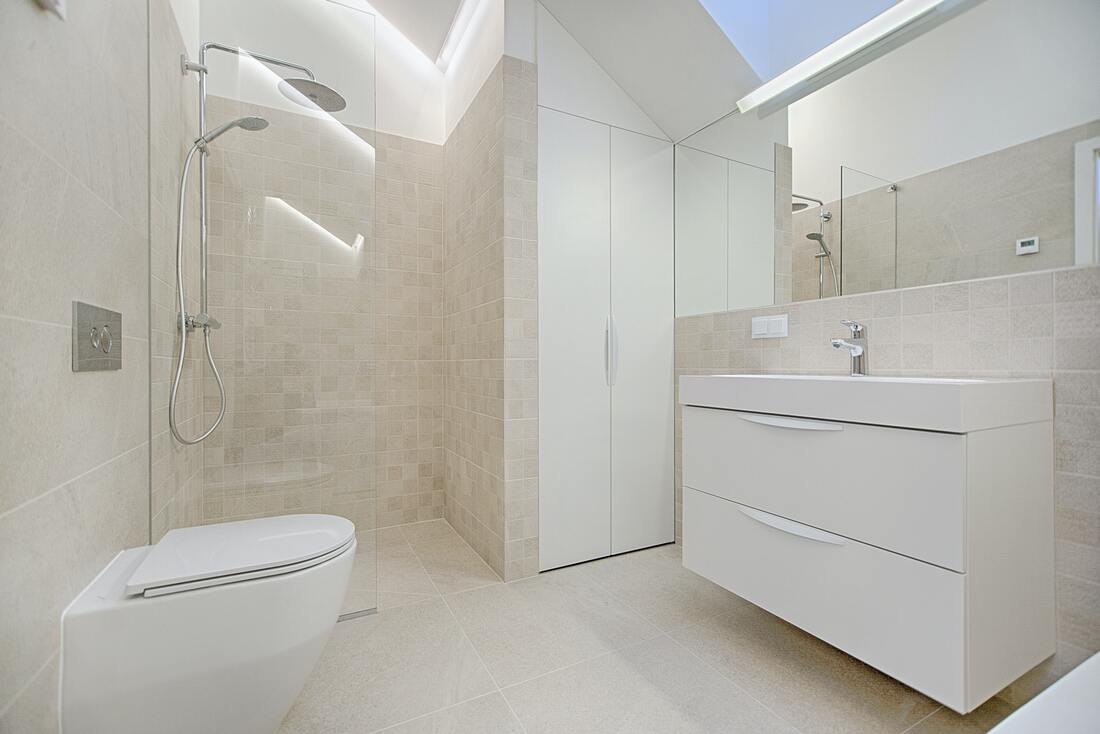 Wet room professionally installed by bathroom fitters